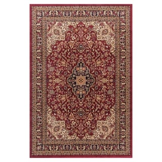Well Woven Medallion Kashan' Red Area Rug - 5'3 x 7'3