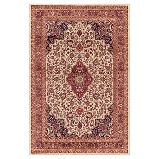 Well Woven Medallion Kashan' Ivory Area Rug - 7'10 x 9'10