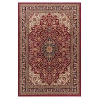 Well Woven Medallion Kashan' Red Area Rug - 7'10 x 9'10
