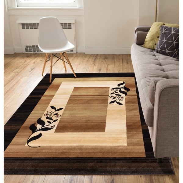 'Molly' Gold Area Rug (7'10 x 9'10)