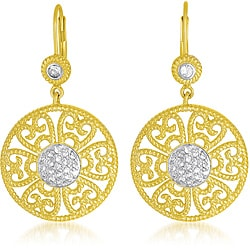 Collette Z Two-Tone Gold and Silver Cubic Zirconia Earrings
