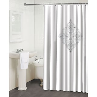 'Jewel White' Shower Curtain