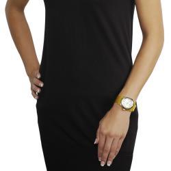 Geneva Platinum Women's Yellow Translucent Watch - Thumbnail 2