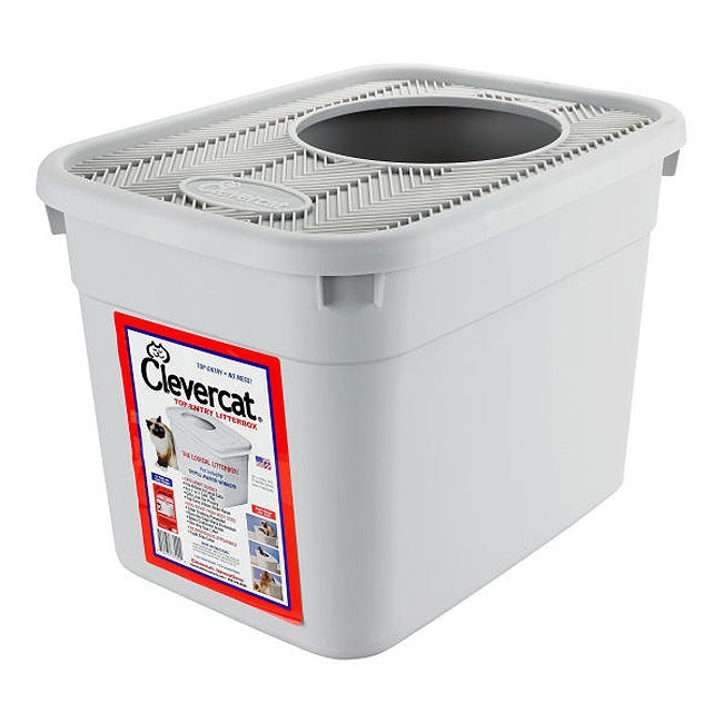 Clevercat Innovations Top Entry Litter Box Free Shipping