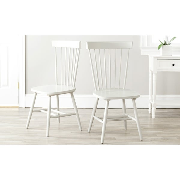 Beau Safavieh Country Classic Dining Country Lifestyle Spindle Back Off White  Dining Chairs (Set Of 2