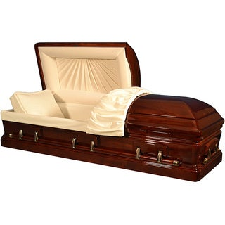 Star Legacy's Mahogany Deluxe Wood Casket