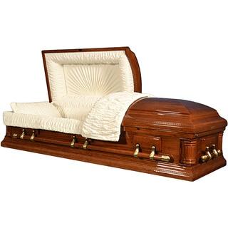 Star Legacy's Poplar Deluxe Wood Casket