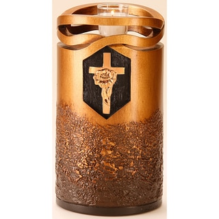 Infinity Bronze Finish Large/ Adult Urn with Rose Cross
