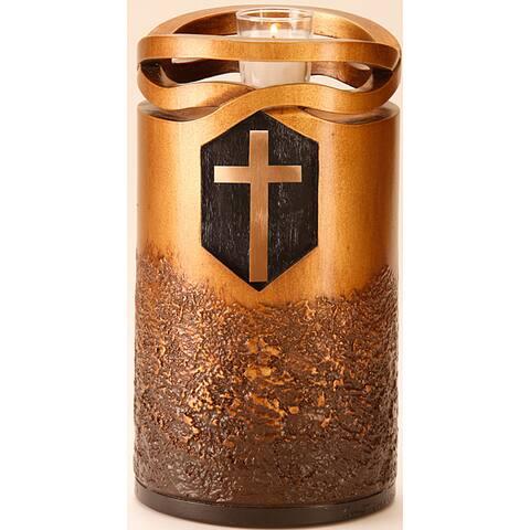Infinity Urns Bronze Finish Cross