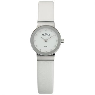 Skagen Denmark Women's White Glitz Crystal Watch