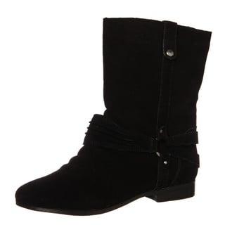 Sam & Libby Women's 'Fabulist' Black Leather Boots FINAL SALE