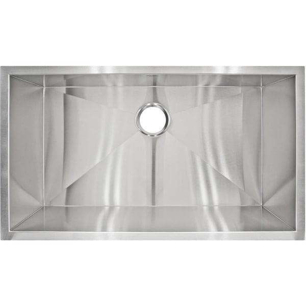 LessCare LP2 Designer Undermount Stainless Steel Sink - 32 x 10 x 19