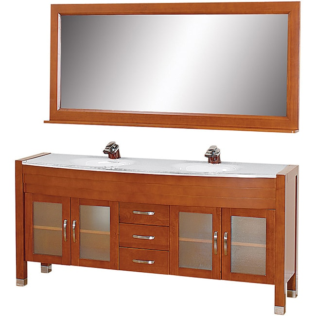 collection cherry inch solid oak double bathroom vanity vanities near hill nj kraftmaid