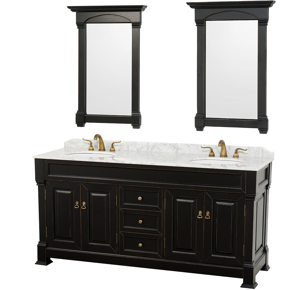 with pin inch chilled first carrera bathroom uptown gray top combo marble white vanity double