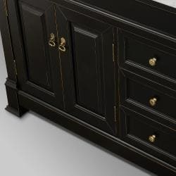 Wyndham Collection Andover Black 72-Inch Solid Oak Double Bathroom Vanity - Thumbnail 1