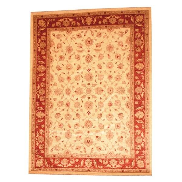 """Handmade Herat Oriental Afghan Vegetable Dye Wool Rug - 8'3"""" x 11'1"""" (Afghanistan)"""