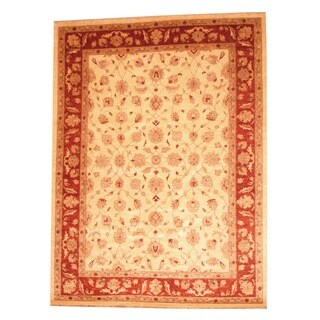 Herat Oriental Afghan Hand-knotted Vegetable Dye Wool Rug (8'3 x 11'1)