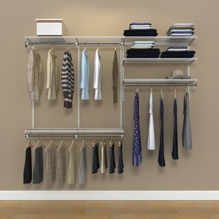 Organized Living freedomRail 7-foot White Ventilated Closet Kit