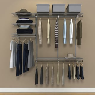 Organized Living FreedomRail 6-Foot Nickel Ventilated Closet Kit