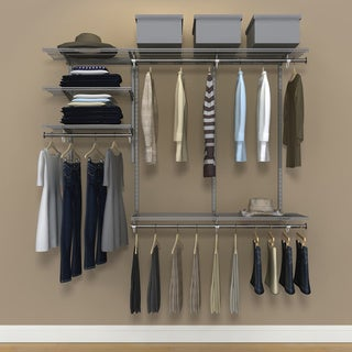 Organized Living FreedomRail 6 Foot Nickel Ventilated Closet Kit
