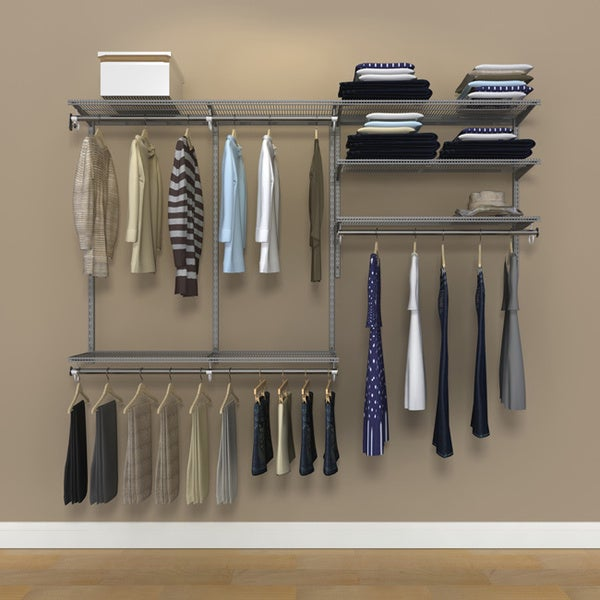 Organized Living FreedomRail 7-Foot Nickel Ventilated Closet Kit