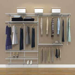 Organized Living FreedomRail 8-Foot White Ventilated Closet Kit