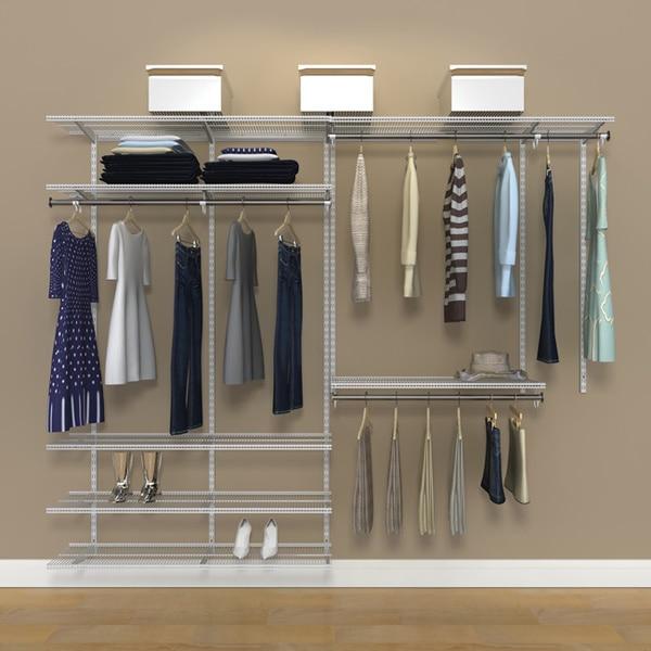 Freedomrail Closet #12 - Organized Living FreedomRail 8-Foot White Ventilated Closet Kit