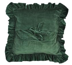 cottage home green cotton velvet euro pillow sham thumbnail 1