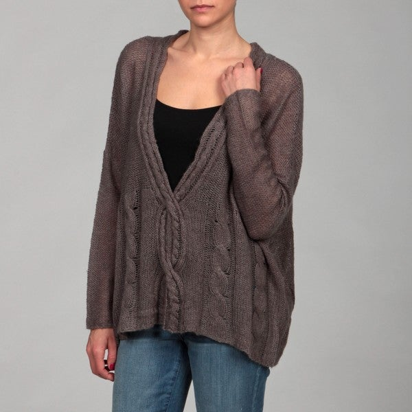Dylan & Rose Junior's Heather Grey Twist Front Sweater FINAL SALE