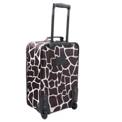 Rockland Deluxe Giraffe Lightweight 2-Piece Carry-On Luggage Set - Thumbnail 1