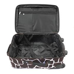 Rockland Deluxe Giraffe Lightweight 2-Piece Carry-On Luggage Set - Thumbnail 2