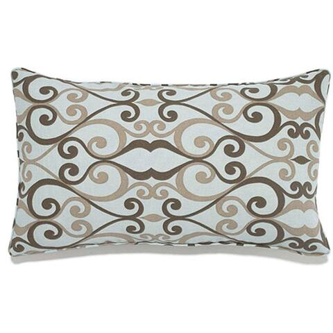 Jiti White Iron Floral Rustic Sunbrella Outdoor Pillow - 12 x 20 - 12 x 20