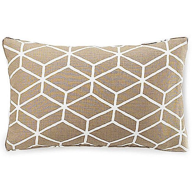 Bethe Tile Light Brown 12x20-inch Linen Decorative Pillow