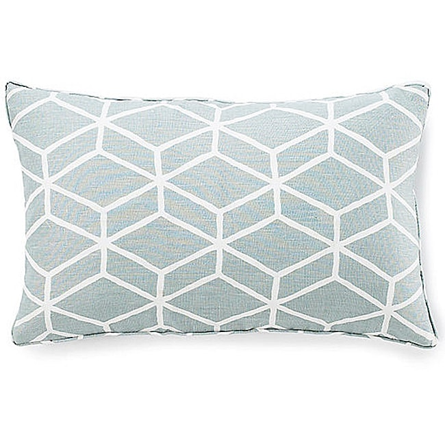 Bethe Tile Aqua 12x20-inch Linen Decorative Pillow