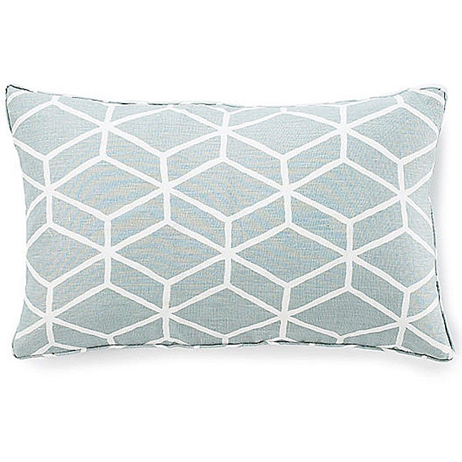 Bethe Tile Aqua 12x20-inch Linen Decorative Pillow - Thumbnail 0