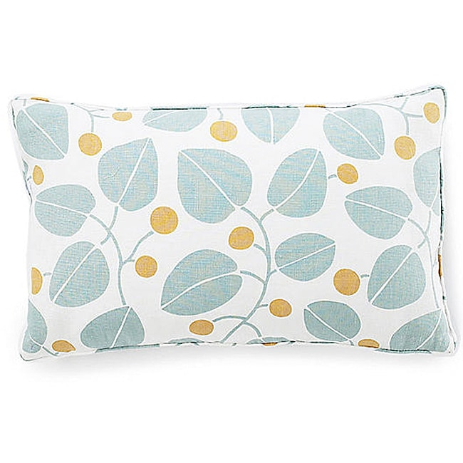 Jiti Bethe Leaves Aqua 12x20-inch Decorative Down Pillow