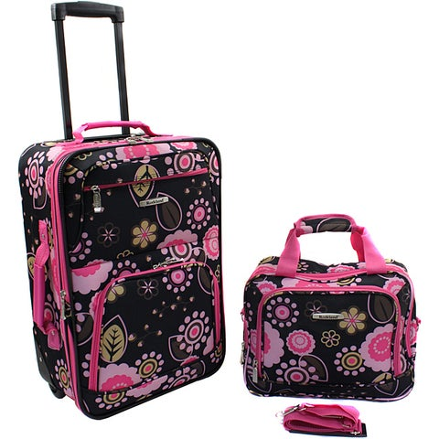 Rockland 'Pucci' Lightweight 2-Piece Carry-On Luggage Set