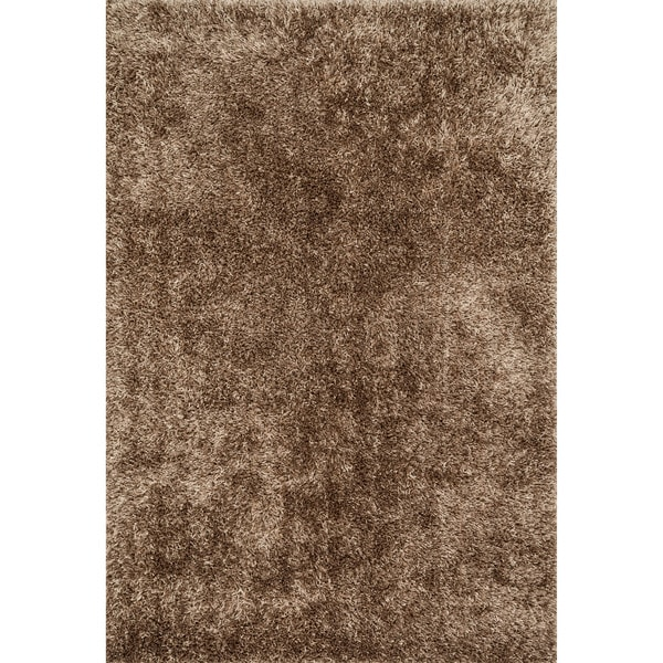 Hand-tufted Beige Shag Area Rug - 5' x 7'6