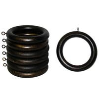 Wood 2-inch Antique Bronze Curtain Rings (Set of 7)