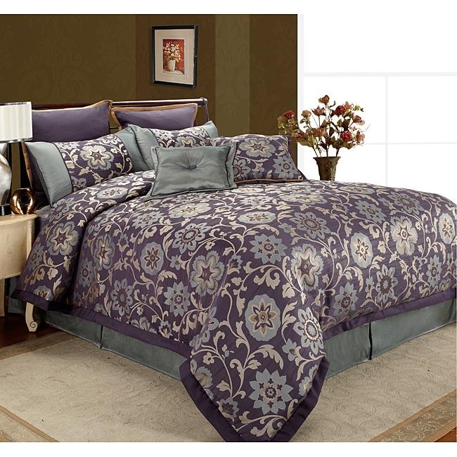 Rachel 'Midnight Hour' 8-piece Queen Comforter Set