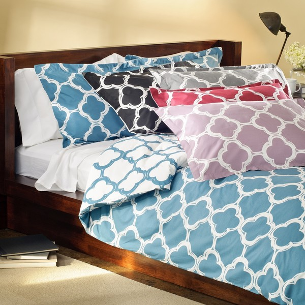 shop lyon 3 piece full queen size duvet cover set free shipping today 6423953. Black Bedroom Furniture Sets. Home Design Ideas