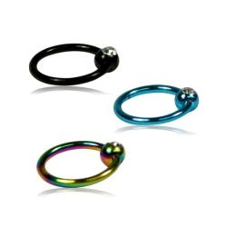 Supreme Jewelry Titanium Crystal Stone Nose Ring (Pack of 3) - Thumbnail 1