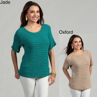Cable & Gauge Women's Ribbed Sweater