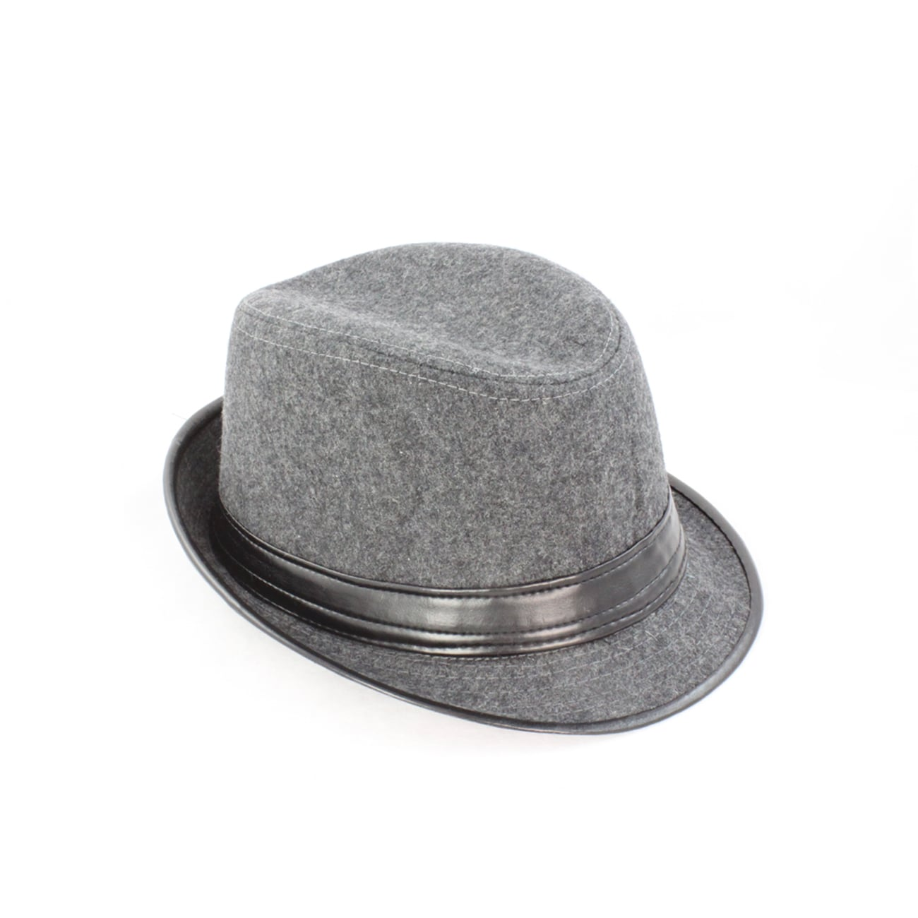 Faddism Men's 'Gentleman Grey' Wool Felt Fedora Hat