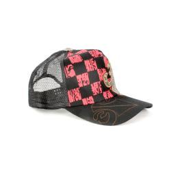 Faddism Unisex Black Red Square Design Baseball Cap