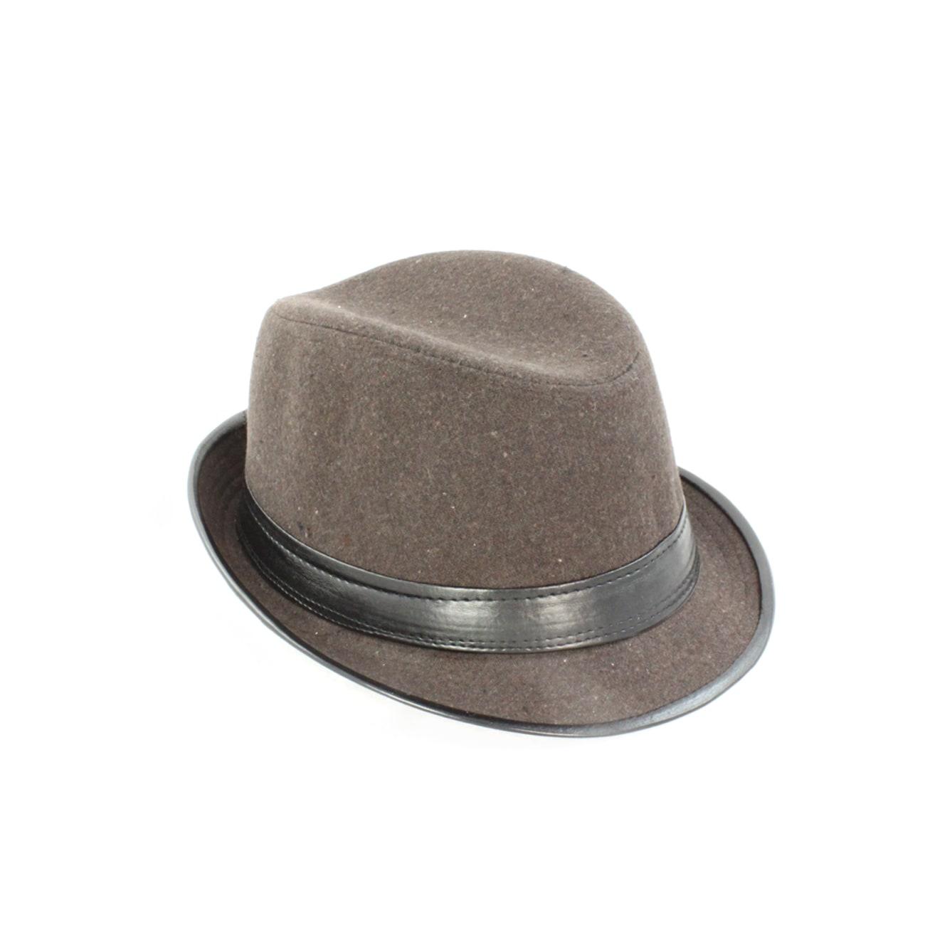Faddism Men's 'Gentleman Brown' Wool Felt Fedora Hat