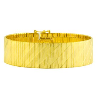 Fremada Gold over Silver 17-mm Cubetto Flex Bracelet