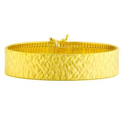 Fremada Gold over Silver 14-mm Cubetto Flex Bracelet