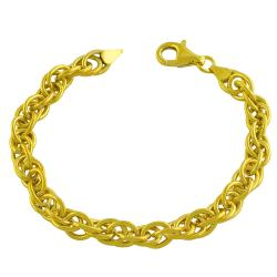 Fremada Gold over Silver Twisted Multi-cable Link Bracelet