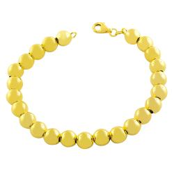 Fremada Gold over Silver 8-mm Polished Bead Ball Bracelet